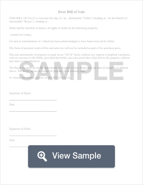 boat bill of sale create download for free formswift