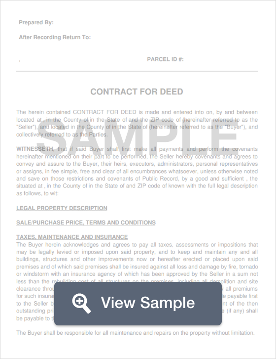 Contract For Deed Create Download For Free Formswift