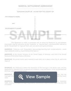Free Divorce Settlement Agreement Template Pdf Sample