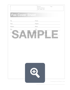 fax cover sheet create download for free formswift