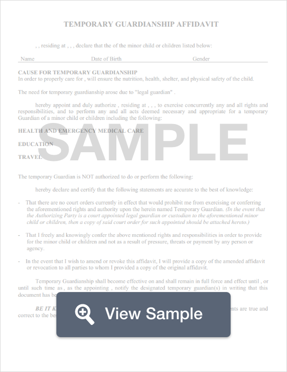 Free Guardianship Form