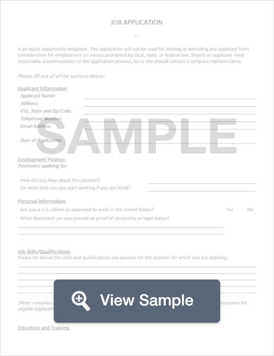 job application template create download for free formswift