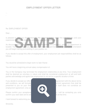 Offer Letter Sample | Job Offer Letter Create Download For Free Formswift