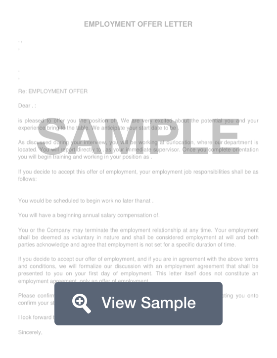 Job Offer Letter Create Download For Free Formswift