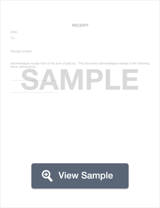 free receipt template - Create A Receipt