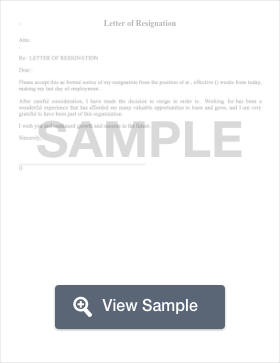resignation letter create download for free formswift