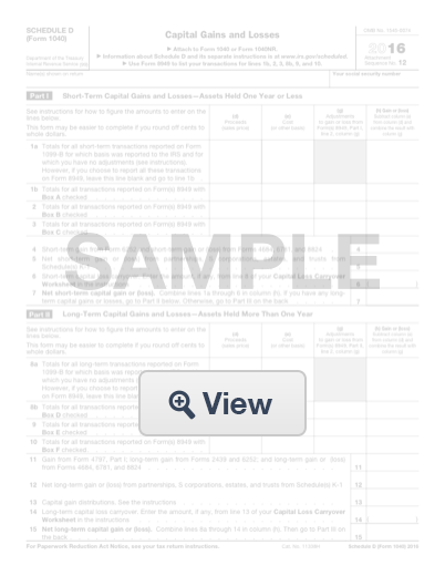 Fillable Schedule D Form 1040 Formswift