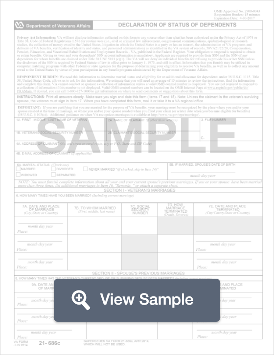 Va Form 21 686c Create Download For Free Formswift