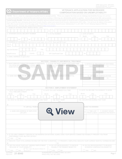 va form 21 8940: create & download for free | formswift