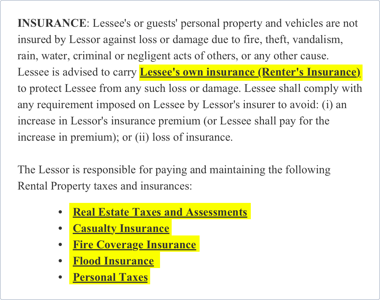 Free Rental Lease Agreement Template Lease Form Formswift